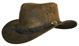 JACARU Traditional Hats 1153 Magpie oiled leather in moss black /& brown