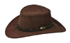 Brown Wallaroo Suede Outback Hat by Jacaru