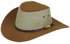 Brown Rizon Hat by Jacaru