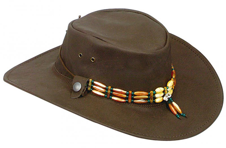 Brown Indiana Hat by Jacaru