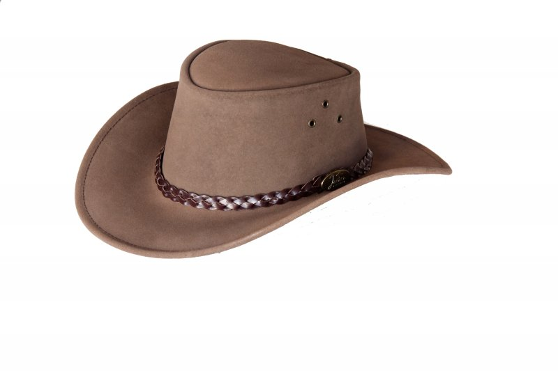 Brown Oz Suede Hat by Jacaru
