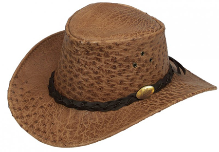 Rust Ostrich Hat by Jacaru